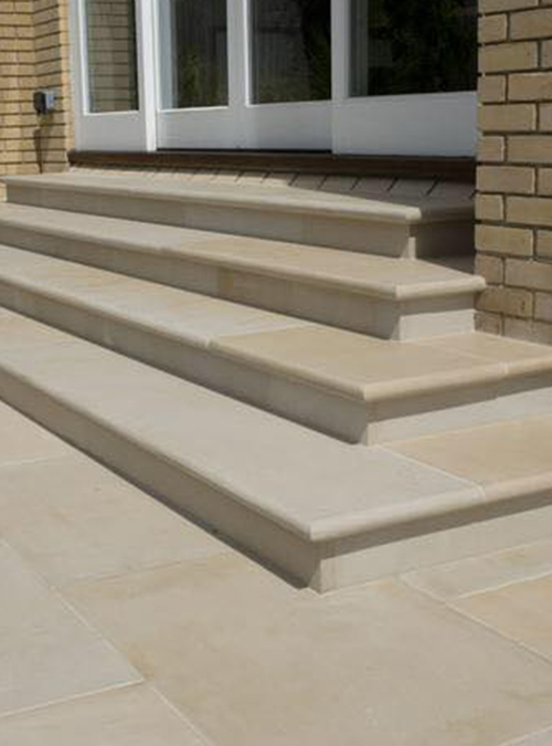 Mint Sawn Smooth Sandstone 4 Size Mixed Patio Pack 20m2